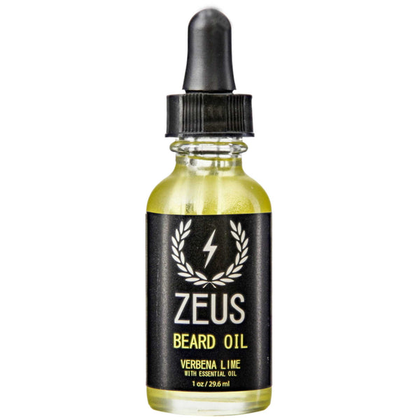 Zeus Verbena Lime Beard Oil Front Label