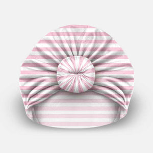 Pink & White Stripes - Beanie Bun