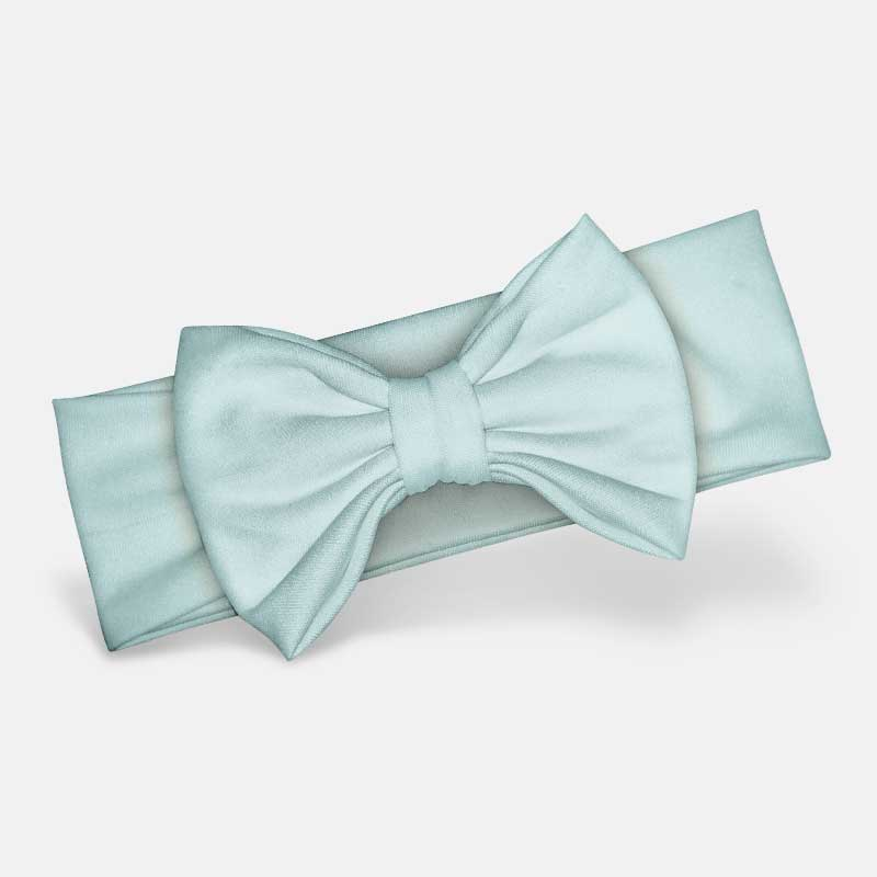 Pastel Blue - Bow Headband