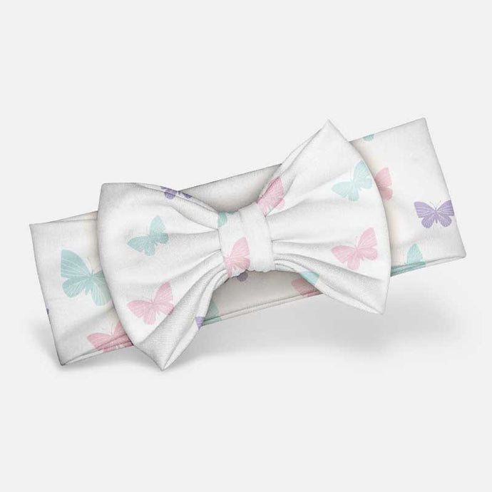 Pastel Butterfly - Bow Headband