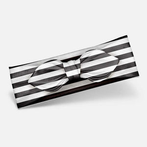 Black & White Stripes - Knotted Headband