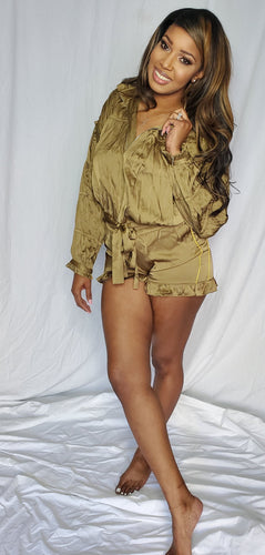 Olive 2 Piece Short Set