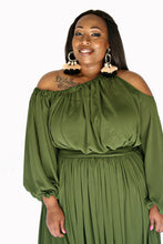 Load image into Gallery viewer, Olive Green Maxi Dress