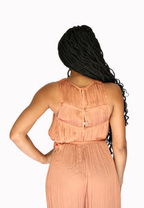 Sienna- Burnt Orange Romper