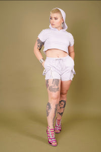 MOTHER OF PEARL SHORT SET