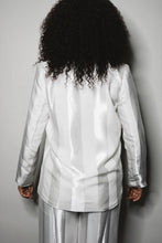 Load image into Gallery viewer, GodMutha White Satin Pinstripe Suit