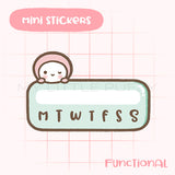 Cute Hand-drawn My Little Puffy Functional Planner Sticker- Task Tracker