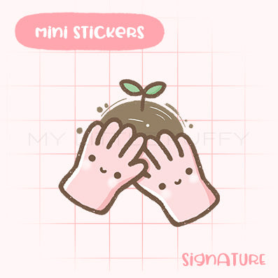 Gardening Gloves Planner Sticker
