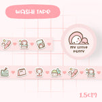 Cute Pink Planning Essential My Little Puffy Washi Tape