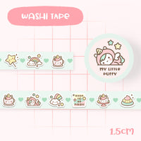 Cute Mint My Little Puffy Unicorn Washi Tape