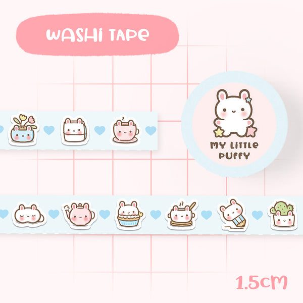 Cute Hand Drawn Bunny Washi Tape