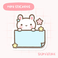 Bunny Notes Planner Sticker