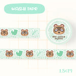 Cute Hand Drawn Animal Crossing Inspired Washi Tape