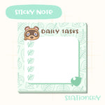 Animal Crossing Inspired Sticky Notepad- Cute Tom Nook Sticky Note