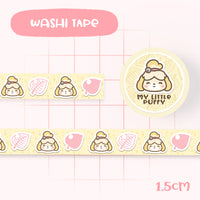 Cute Hand Drawn Animal Crossing Inspired Washi Tape - Isabelle
