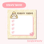 Animal Crossing Inspired Sticky Notepad- Cute Isabelle Sticky Note
