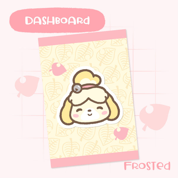 Cute Hand-Drawn Animal Crossing Inspired Dashboard- Isabelle