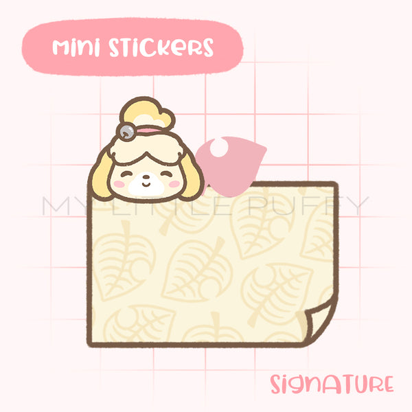 Animal Crossing- Isabelle- Inspired Sticky Note Planner Sticker