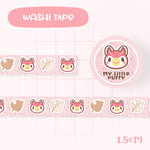 Cute Hand Drawn Animal Crossing Inspired Washi Tape - Celeste