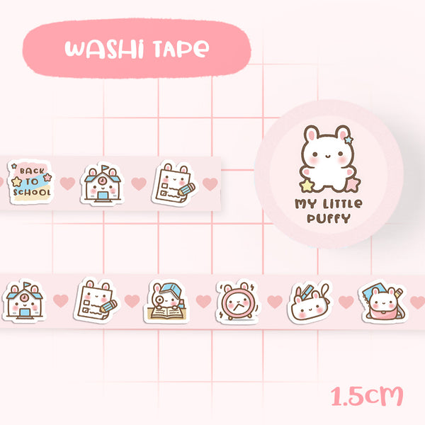 Cute My Little Puffy Back To School Washi Tape