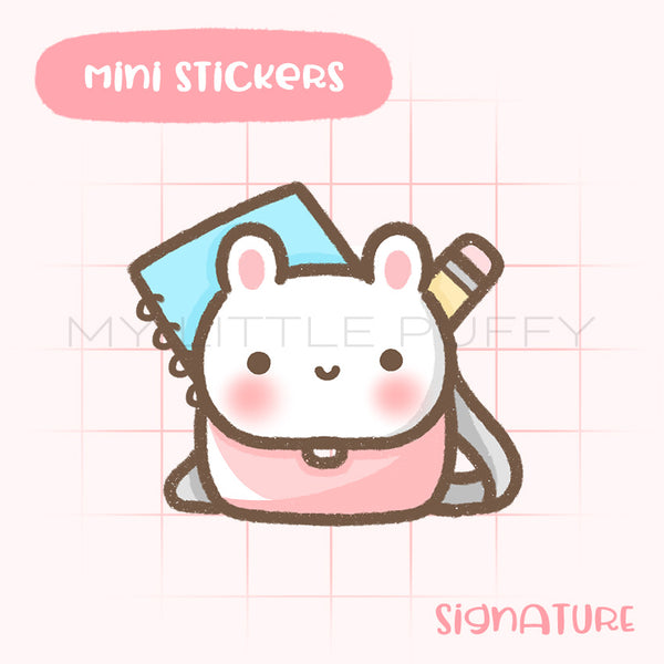 Backpack Bunny Planner Sticker