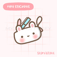 Pencil Pouch Bunny Planner Sticker