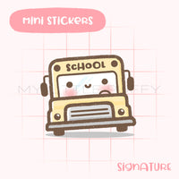 School Bus Bunny Planner Sticker