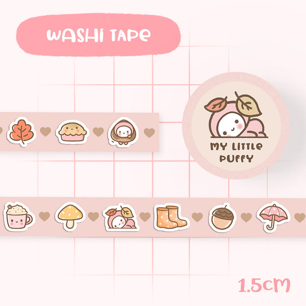 Cute My Little Puffy Autumn Fall Washi Tape