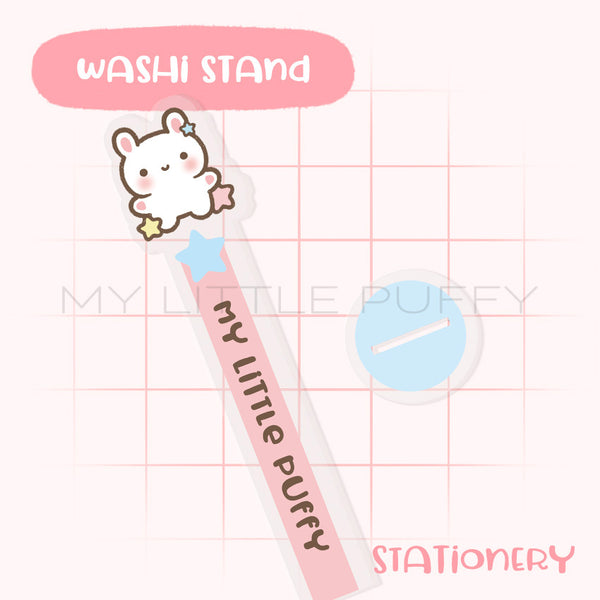Cute Bunny Puffy Washi Stand/Tower