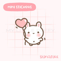 Bunny Balloon Planner Sticker