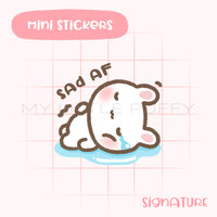 Crying Bunny Planner Sticker