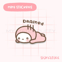 Drained Puffy Planner Sticker