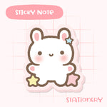 Cute Puffy Bunny Sticky Notepad