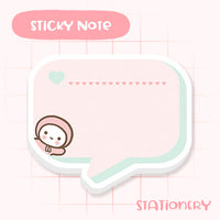 Cute Speech Bubble Sticky Notepad