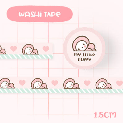 Cute Pink/ Mint My Little Puffy Washi Tape