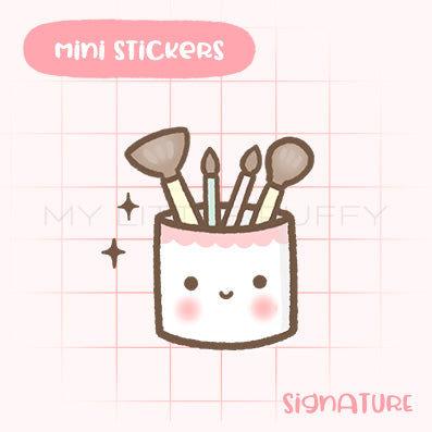 Makeup Brushes Planner Sticker