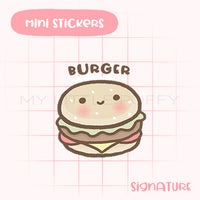 Cute Burger Planner Sticker