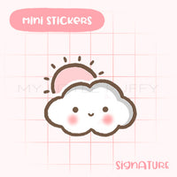 Partly Sunny Weather Planner Sticker