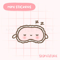 Sleeping Mask Planner Sticker