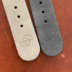 So Labs dark light grey suede custom strap 20mm quick release