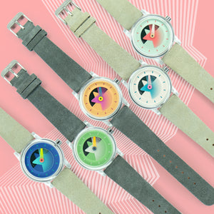 Sō Labs Layer One Quartz Watch Watches Olympic Sky Emerald Rhino Salmon Fandango Abalone Steel Turkish Coral @solabs Solabs So Labs so-labs.co Limited Edition Funky Fun Holiday Gift Watches Timepiece clear