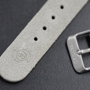 So Labs light grey suede custom strap 20mm quick release