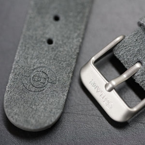 So Labs dark grey suede custom strap 20mm quick release