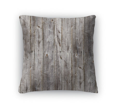Throw Pillow, Old Gray Fence Boards Wood - the-american-pandaa