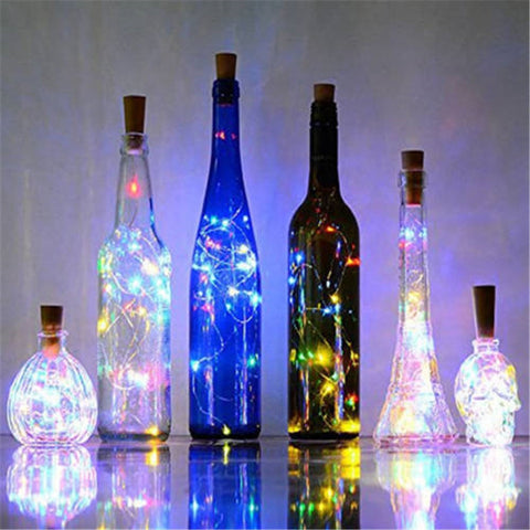 1M 10 LED Lights Strip Wine Bottle Decor Party Glow - the-american-pandaa