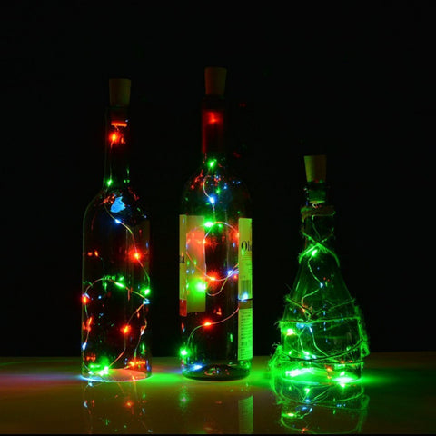 20-LED Light Copper Wire String with Bottle Stopper - the-american-pandaa