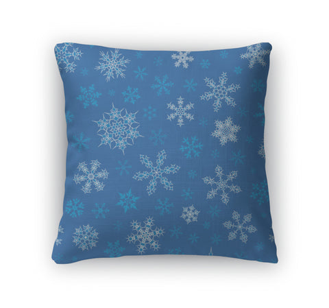 Throw Pillow, Snowflakes Pattern - the-american-pandaa