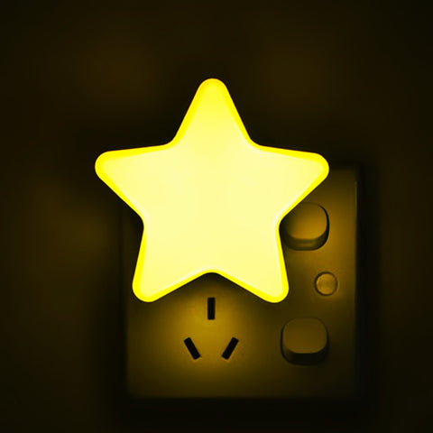 Star Shape LED Light Sensor Control Bed Light - the-american-pandaa