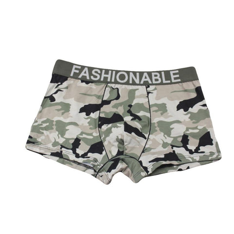 Men Polyester Male Solid Underpants Sexy Boxer Shorts Panties - the-american-pandaa