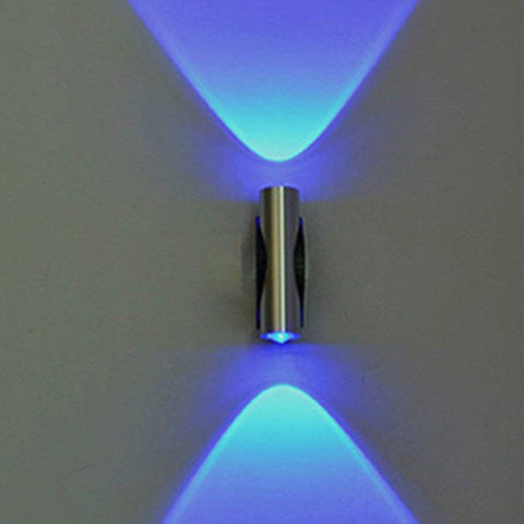 Double headed Blue LED Light Bedroom Wall Decor - the-american-pandaa